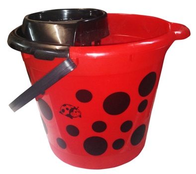 BUCKET COCCINELLA WITH SQUEEZER 13lt.