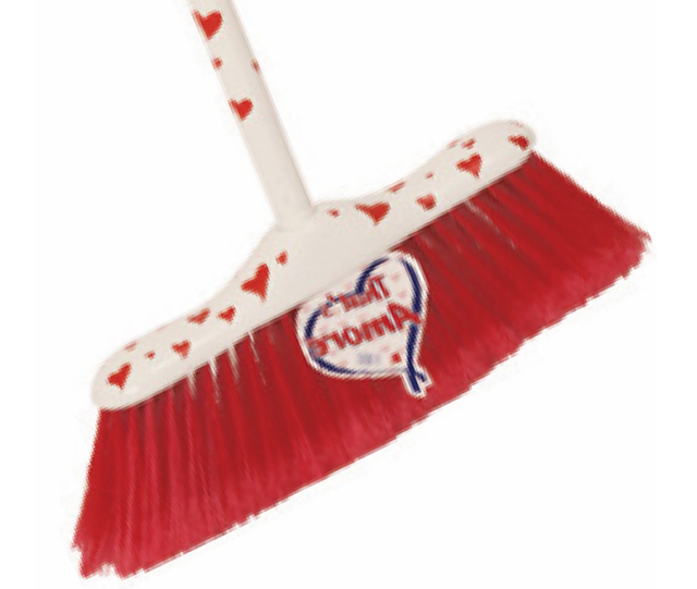 Heart broom & pole