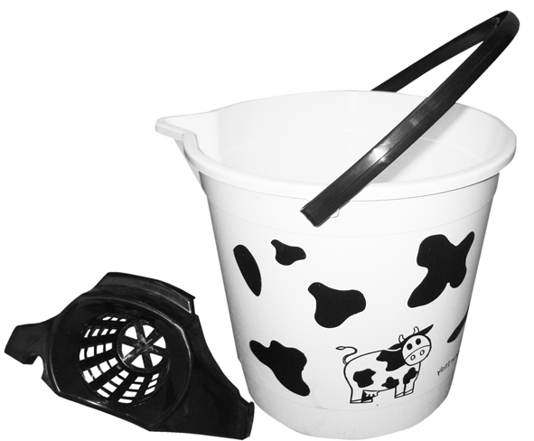 BUCKET COW WITH SQUEEZER 13lt.