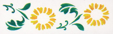 STENCIL No 333 Sunflowers